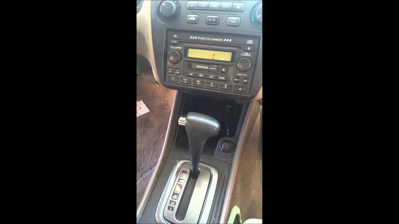 2002 honda accord radio code and error display [ 1280 x 720 Pixel ]