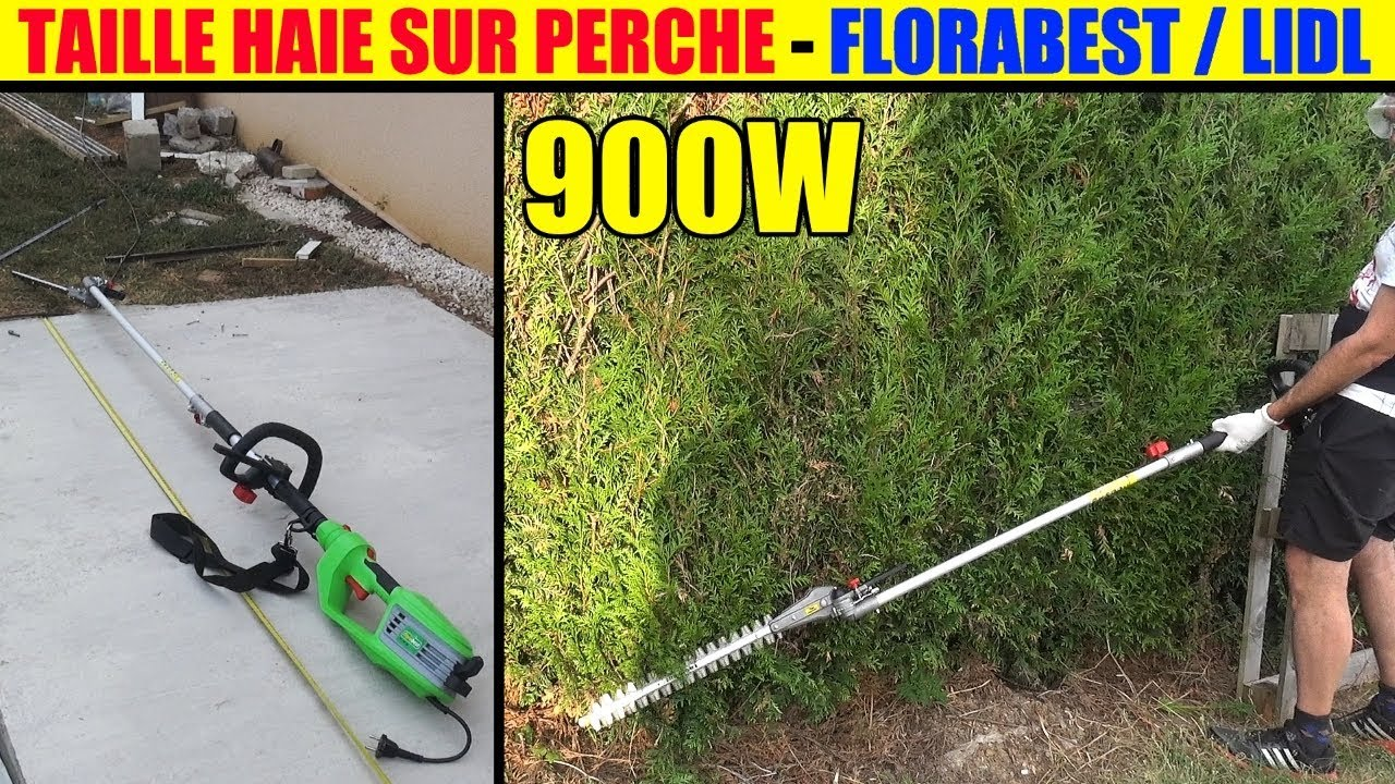 taille haie sur perche lidl florabest manche long lidl fhl 900 long reach hedge trimmer youtube. Black Bedroom Furniture Sets. Home Design Ideas