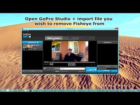 GoPro Studio - Fisheye Removal