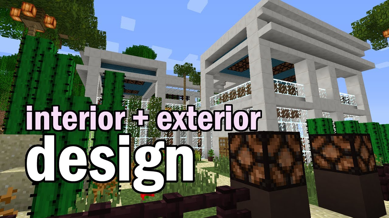 Garden Design Minecraft minecraft luxury house interior and garden design - youtube