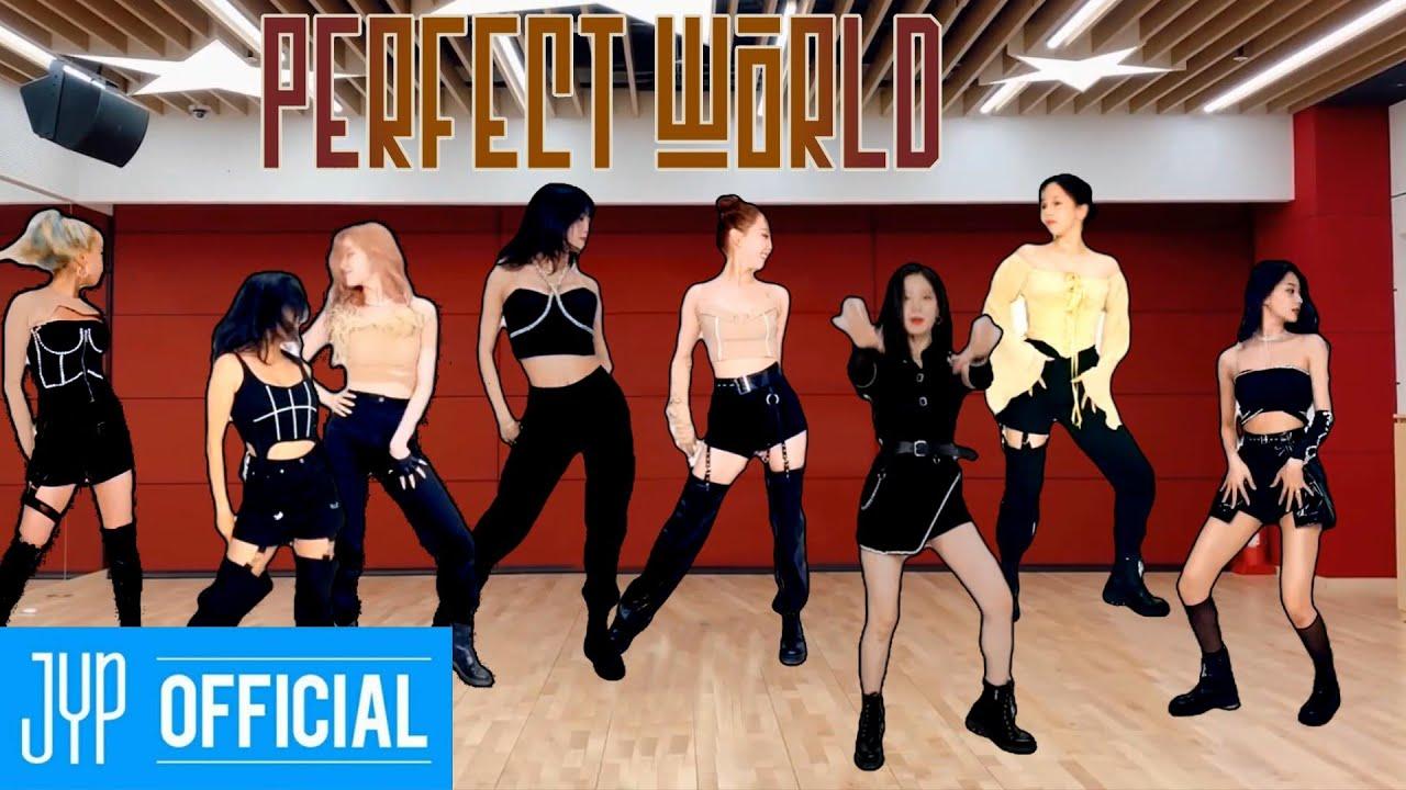 "Twice "" Perfect World"" on JYP Building"