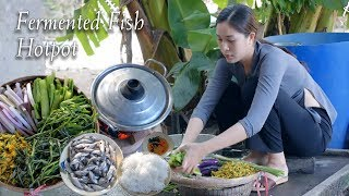 Enjoy Fermented Fish Hotpot (Lau Mam), a special dish in Mekong Delta, on a cold day