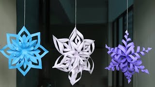 DIY 3D Snowflake Making Tutorial - DIY Crafts