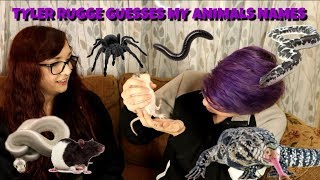 MY BEST FRIEND GUESSES MY ANIMALS NAMES | Ft. Tyler Rugge