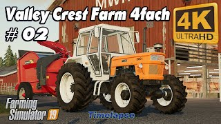Animals in The Valley Crest Farm 4fach | Farming Simulator 19 | Time Lapse #02 | 4K(UltraHD)