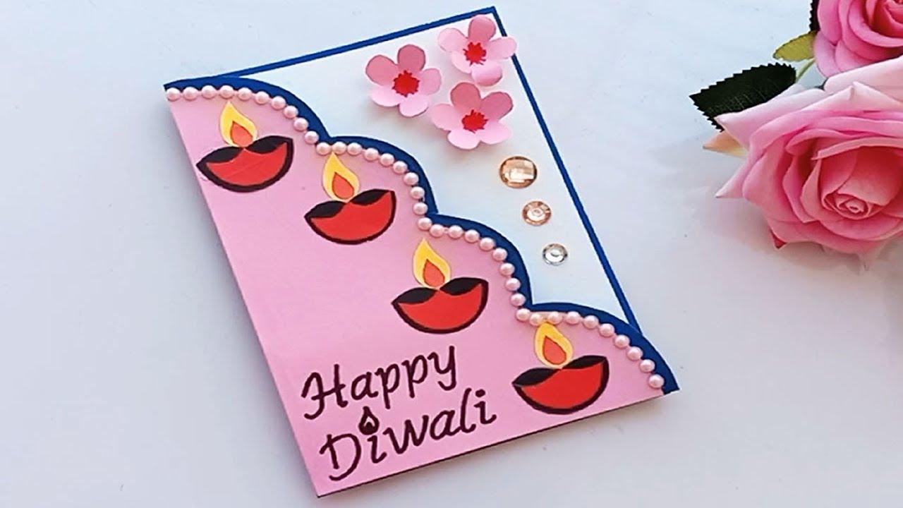 diy diwali card  handmade easy diwali card  youtube
