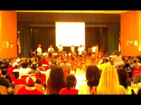Isenberg elementary School.  African musical