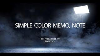 Simple Color Memo: Note, Alarm Reminder, Widget screenshot 3
