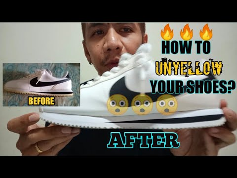 HOW TO UNYELLOW SHOE SOLES (nike Cortez)