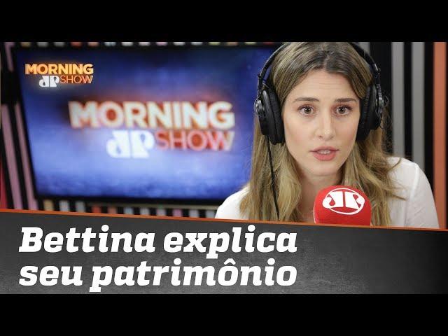Bettina explica como seu patrimônio foi de mil e poucos reais para mais de R$ 1 milhão