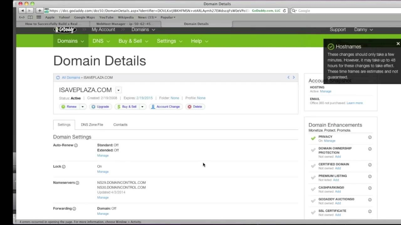 How to Setup DNS in WHM cPanel on Godaddy - YouTube