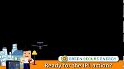 Green Secure Energy television scroller