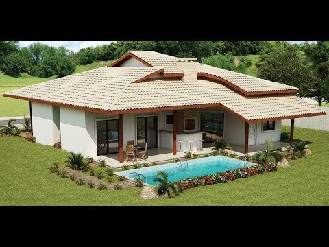 30 modelos de casas de campo youtube for Modelo de casa francesa
