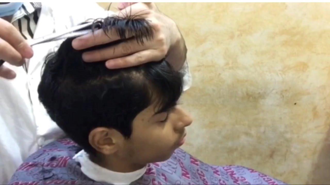 حلاقة الشعر بالأصابع و المقص How To Cut Hair With Fingers And Scissors Youtube