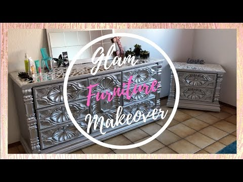 MOSAIC MIRRORED FURNITURE MAKEOVER | DIY GLAM FURNITURE 2018
