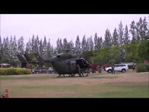 UH -72 Lakota  startup and take off