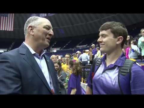 Me Interviewing Governor Jon Bel Edwards