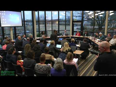 2018 03 27 WCC Board of Trustees monthly meeting