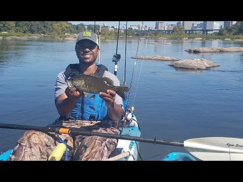 Fall Smallmouth Fishing In Clear Water On The James River Falls