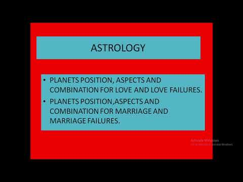ASTROLOGY - SUCCESS AND FAILURES IN LOVE LIFE & MARRIAGE LIFE