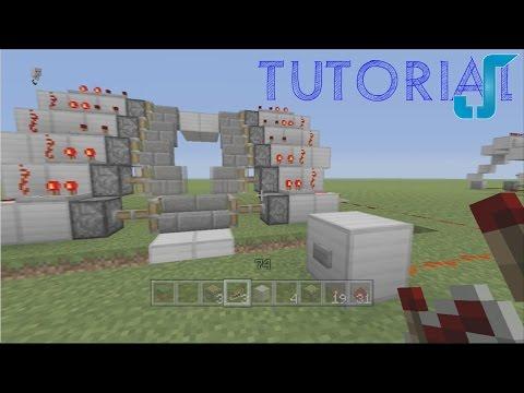 Minecraft Zipper Piston Staircase [Xbox, PS3, PC TUTORIAL]