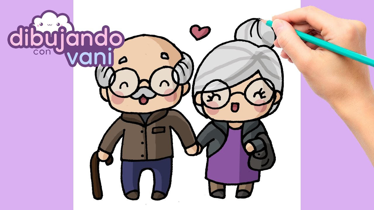 Como Dibujar Una Pareja De Ancianos Paso A Paso Dibujos Para Dibujar Imagenes Faciles Kawaii Youtube