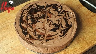NO BAKE CHOCOLATE MOUSSE CAKE | EGGLESS CHOCOLATE MOUSSE CAKE -MOUSSE CAKE WITHOUT OVEN BY HAFSA