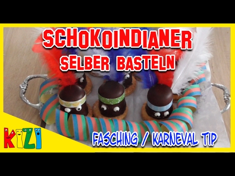 kindergeburtstag ideen schoko indianer fasching karneval dekoration youtube. Black Bedroom Furniture Sets. Home Design Ideas