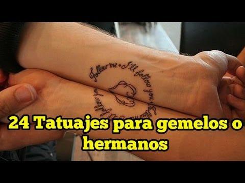 24 Tatuajes Para Gemelos O Hermanos