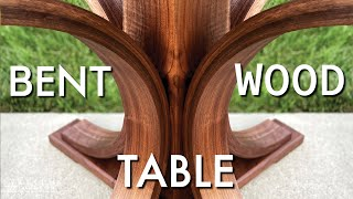 Bent Wood Table // Bent Lamination // How to Bend Wood