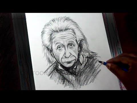 How To Draw Theoretical Physicist Albert Einstein Drawing For Kids