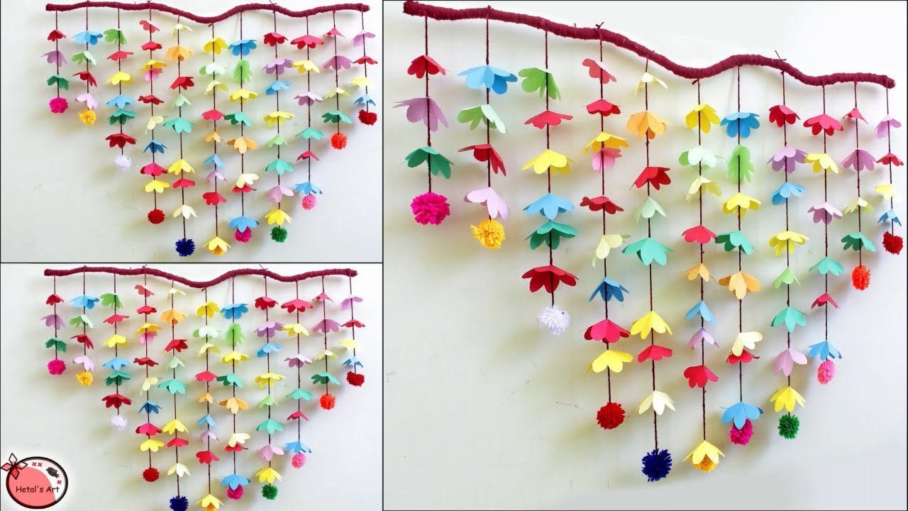 Amazing Wall Decoration Idea Wall Hanging Making At Home Paper