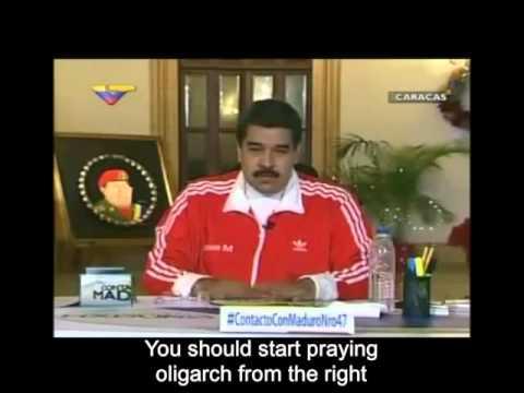 Nicolas Maduro threatens Venezuelans before elections - December 2015