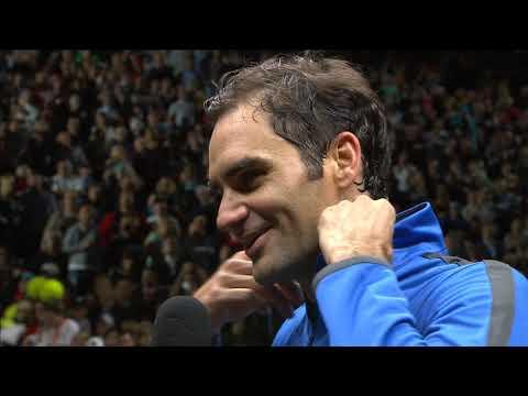 Roger Federer On Court Interview   Laver Cup 2017