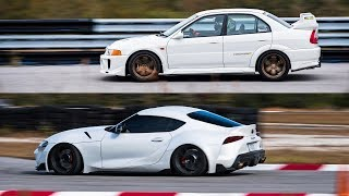 2020 Supra Vs. Evo 5 - WHICH IS FASTER AT THE TRACK?