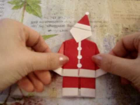 How To Make An Origami Father Christmas Santa Claus Easy One