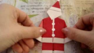 How To Make An Origami Father Christmas, Santa Claus (easy One)