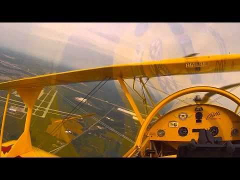Pitts Model 12 Pilot POV take-off and landing - GoPro Hero 3+