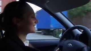 Лена купила новую машину! Новый автомобиль! Лада гранта! Блондинка за рулем! 18.09.15