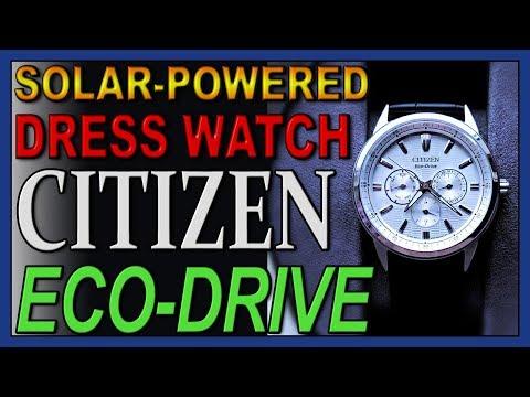 "Bold Dress Watch, Citizen Men's Eco-Drive ""CORSO"" BU2070-04A"