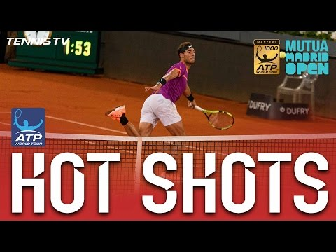 Hot Shot: Nadal Goffin Deliver Four Hot Shots In One Game At Madrid 2017