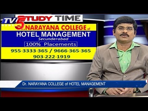 Dr.Narayana College Of Hotel Management | Study Time | TV5 News
