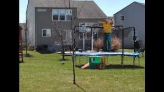 Fat Man On Trampoline and House Safety