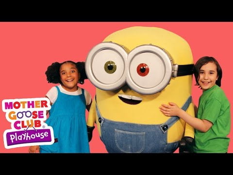 Thumbnail: The Wheels on the Bus Featuring Minions! | Mother Goose Club Playhouse Kids Video