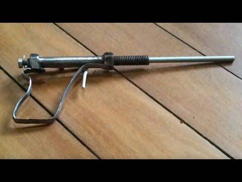 Mudah ! Cara Buat Pistol Rakitan Sederhana ! Jarak Bisa 50meter