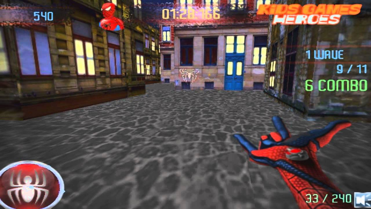 Spiderman Shooting Game Play Free Online For Kids Youtube