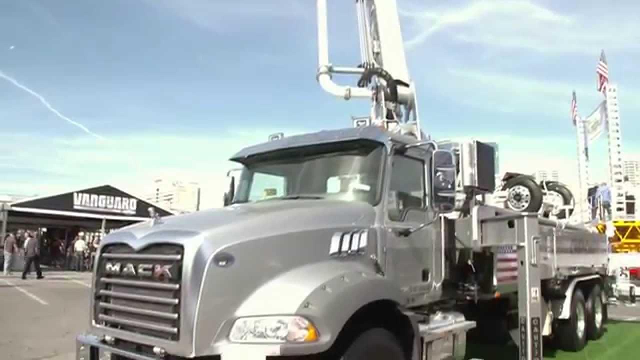 Mack Trucks MHD with Schwing 32 Meter Concrete Pump