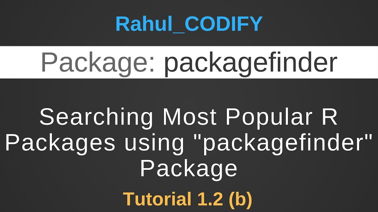Serching R Packages using