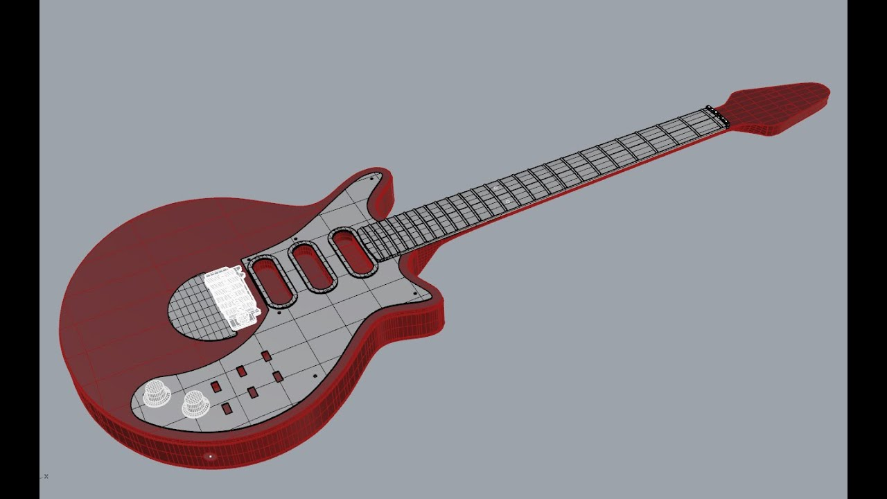 Red Special Guitar CAD draw up...  and possible build.