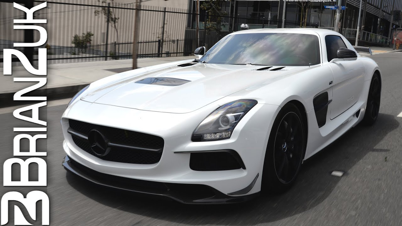 renntech mercedes sls amg black series in action youtube